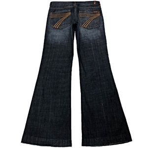 7 For All Mankind Dojo 28X33.5 Long Flare Jeans